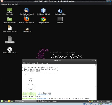 VirtualRails desktop